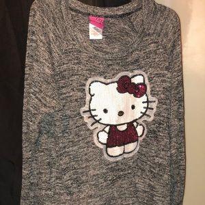 481e769360f Hello Kitty · Hell Kitty knit grey long sleeve top